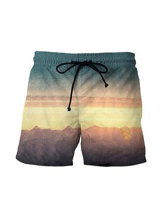 Herren Drucken Board Shorts Badeanzug