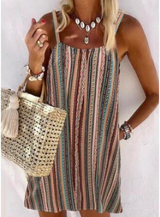 Gestreift Spleiß Farbe U-Ausschnitt Vintage Boho Strandmode Bademode