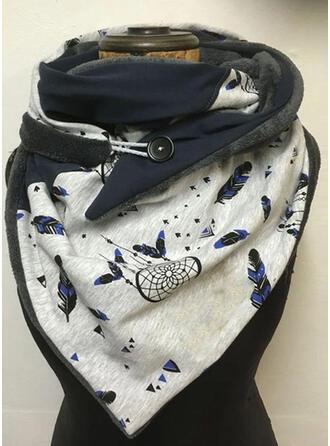 Druck/Blätter Wiederverwendbar/Damen/Einfache Stil Schal