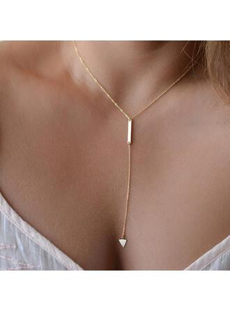 Einfache Herz Legierung Frauen Halsketten