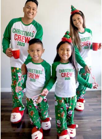 Weihnachtsmann Farbblock Schreiben Passende Familie Christmas Pajamas