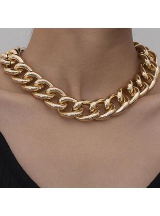 Modisch Sexy Jahrgang Klassische Art Legierung mit Vergoldet Frauen Damen Halsketten 1 PC