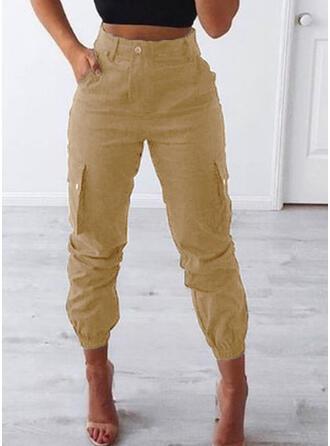 Taschen Shirred Übergröße Lange Lässige Kleidung Stammes Hosen