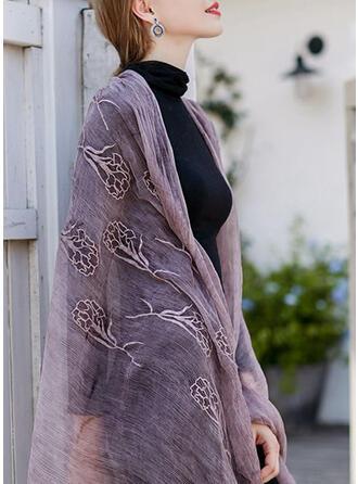 Blumen/Einfarbig Leicht/einfache Schal
