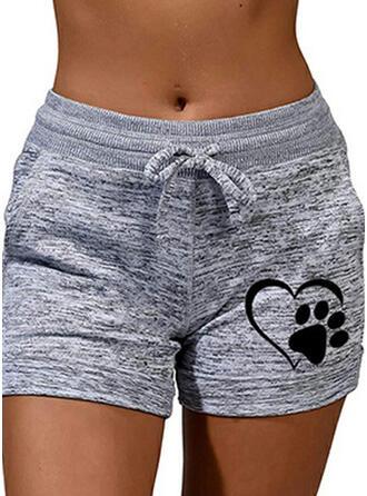 Tierdruckmuster Übergröße Lässige Kleidung Sportlich Kurze Hose