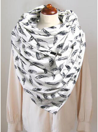 Druck/Blätter mode/Komfortabel Schal