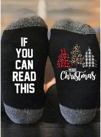 Buchstaben/Druck Weihnachten/Quarter Socks/Unisex Socken